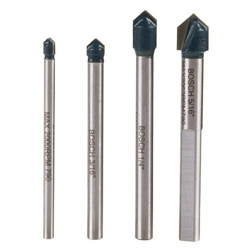 Bosch GT2000 4-Piece Glass and Tile Bit Set