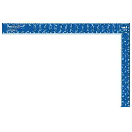 Empire 1190 16-inx24-in TRUE BLUE Hi-Vis Anodized Aluminum Professional Framing Square