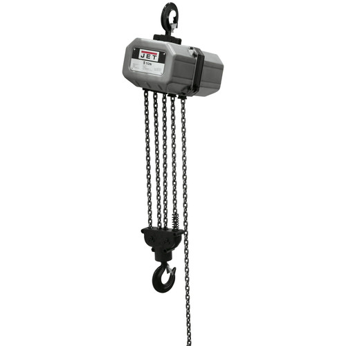 JET 5SS-3C-15 5 Ton Capacity 15 ft. 3-Phase Electric Chain Hoist