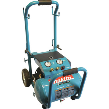 Factory Reconditioned Makita MAC5200-R 3.0 HP 5.2 Gallon Oil-Lube Wheeled Dolly-Style Air Compressor image number 0