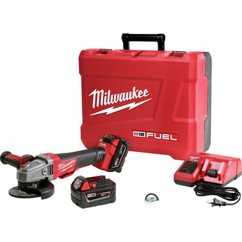 Milwaukee 2783-22 M18 FUEL Cordless 4-1/2 in. - 5 in. Braking Angle Grinder Kit