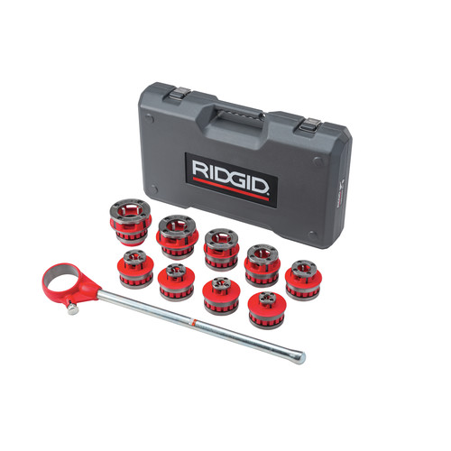 Ridgid 12-R 1/8 in. - 2 in. Capacity NPT Exposed Ratchet Threader Set image number 0