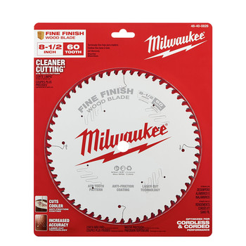 Milwaukee 48-40-0826 8-1/2 in. 60T Fine Finish Circular Saw Blade image number 1