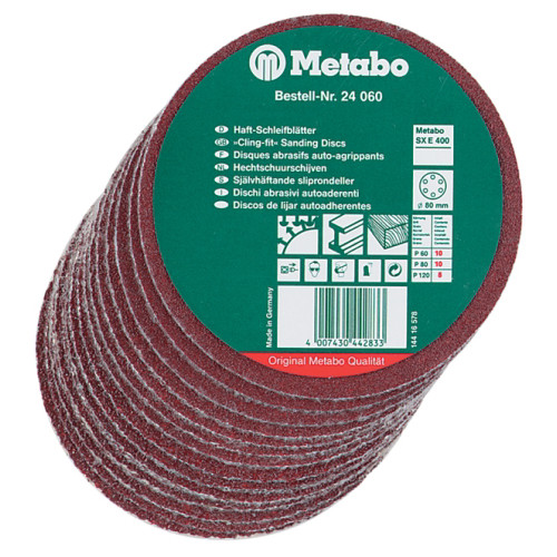 Metabo 624066000 6 in. Cling-Fit Sanding Disc Assortment (25-Pack)