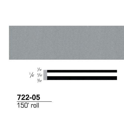 3M 72205 Scotchcal Striping Tape, Silver Metallic, 1/4 in. x 150 ft.