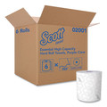 Scott 02001 6 Rolls/Carton Essential 8 in. x 950 ft. Proprietary System Hard Roll Paper  Towels - Purple/White image number 2