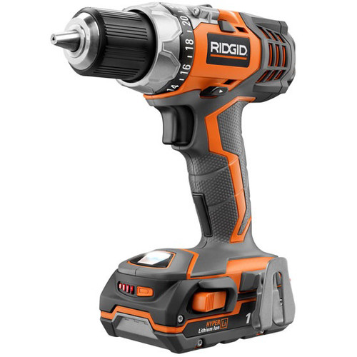 Factory Reconditioned Ridgid ZRR86008K 18V Cordless Fuego Lithium-Ion Compact Drill Driver