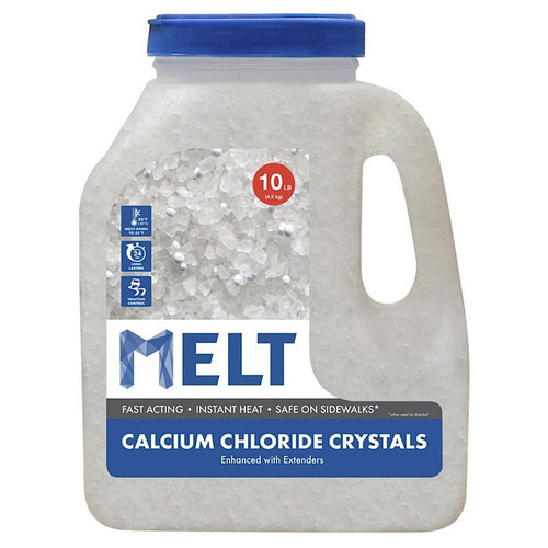 Snow Joe MELT10CC-J MELT Calcium Chloride Crystals Ice Melter (10 lbs. Jug)