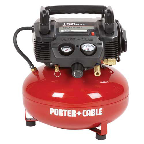 Porter-Cable C2002R | 0.8 HP 6 Gallon Oil-Free Pancake Air Compressor | Tyler Tool