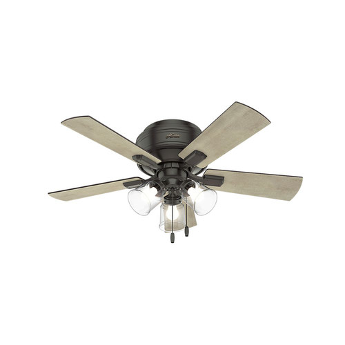 Hunter 52153 42 in. Crestfield Noble Bronze Ceiling Fan with Light image number 0