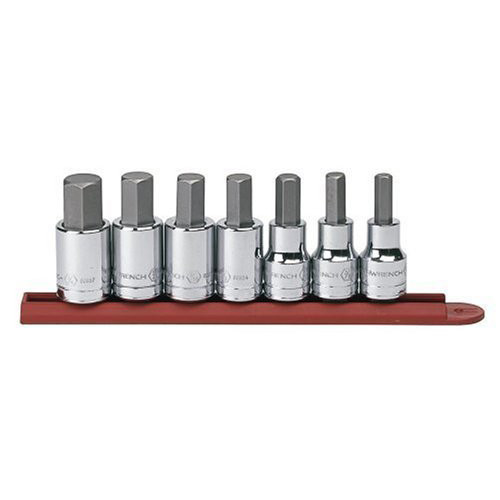 GearWrench 80721 7 pc. 3/8 in. and 1/2 in. Dr. SAE Hex Bit Socket Set