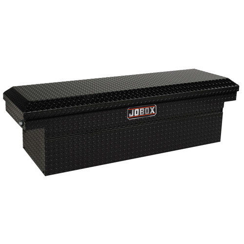 JOBOX JAC1379982 Aluminum Single Lid Super Deep Full-size Crossover Truck Box (Black)
