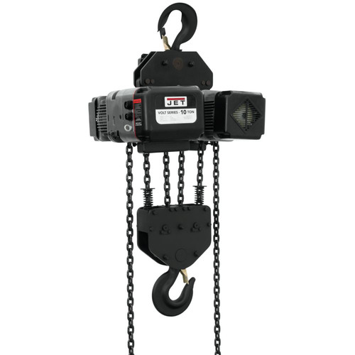 JET VOLT-1000-13P-10 10 Ton 1-Phase/3-Phase 230V Electric Chain Hoist with 10 ft. Lift