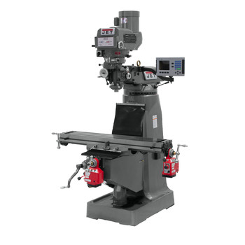 JET JTM-4VS-1 115/230V Variable Speed Milling Machine with 3-Axis ACU-RITE VUE DRO (Quill) and X/Y-Axis Powerfeeds