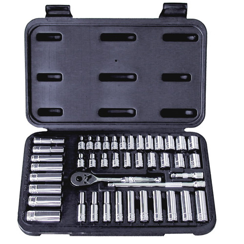 ATD ATD1200P 44-Piece 1/4 in. Drive 6-Point SAE & Metric Pro Socket Set image number 0