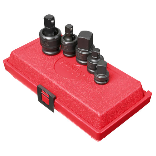 Sunex 3305 5-Piece 3/8 in. & 1/2 in. Drive Adapter and Universal Joint Impact Set image number 0