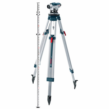 Bosch GOL32CK 32X Zoom Optical Level Kit with Tripod and Rod