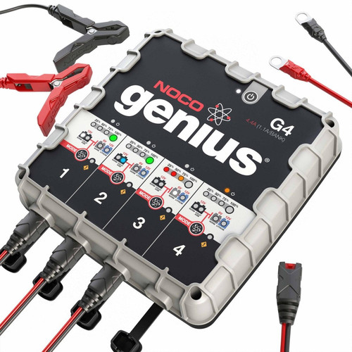 NOCO G4 Genius 6/12V 1,100mA 4-Bank Battery Charger image number 1