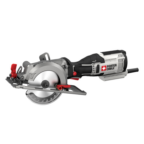 Porter-Cable PCE381K 5.5 Amp 4-1/2 in. Compact Circular Saw Kit image number 0