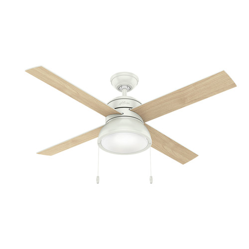 Hunter 54151 52 in. Loki Ceiling Fan with Light (Fresh White) image number 0