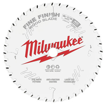 Milwaukee 48-40-0622 6-1/2 in. 40T Fine Finish Circular Saw Blade image number 0
