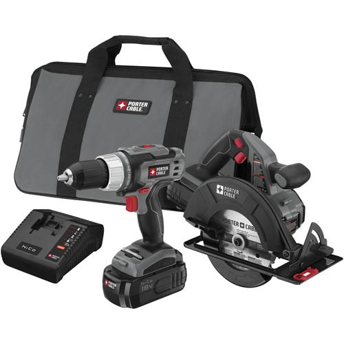 Factory Reconditioned Porter-Cable PC218C-2R Tradesman 18V Cordless 1/2 in. Drill Driver and Circular Saw Combo Kit