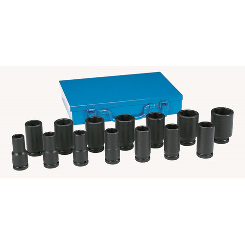 Grey Pneumatic 8038D 14-Piece 3/4 in. Drive Deep Socket Set image number 0