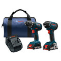 Bosch CLPK232A-181 18V 2.0 Ah Cordless Lithium-Ion Impact Driver and Drill Driver Combo Kit image number 0
