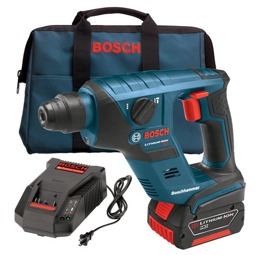 Factory Reconditioned Bosch RHS181K-RT 18V Cordless Lithium-Ion Compact SDS-Plus Rotary Hammer Kit