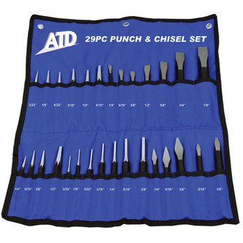 ATD 729 29-Piece Punch And Chisel Set
