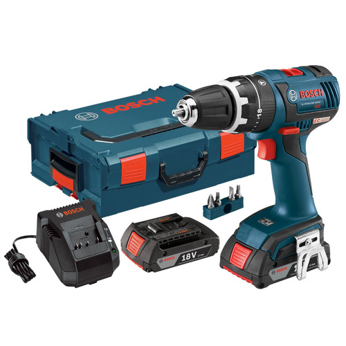 Factory Reconditioned Bosch HDS182-02L-RT Compact Tough 18V Cordless Lithium-Ion Brushless 1/2 in. Hammer Drill Driver Kit with L-BOXX 2 Storage Case
