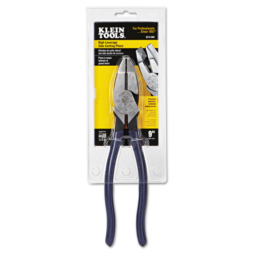 Klein Tools D213-9NE 9 3/8 in. Ne-Nose High-Leverage Side-Cut Pliers image number 0