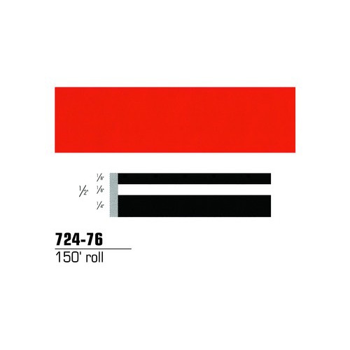 3M 72476 Scotchcal Striping Tape, Tomato Red, 1/2 in. x 150 ft.