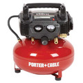 Factory Reconditioned Porter-Cable C2002R 0.8 HP 6 Gallon Oil-Free Pancake Air Compressor