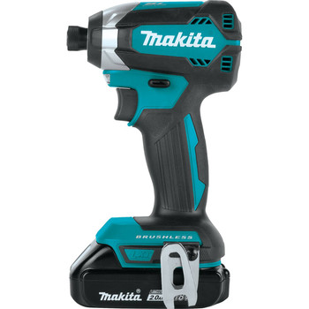 Factory Reconditioned Makita XDT13R-R 18V LXT Lithium-Ion Brushless 1/4 in. Hex Impact Driver Kit (2.0 Ah) image number 2