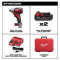 Milwaukee 2656-22CT M18 Lithium-Ion 1/4 in. Hex Compact Impact Driver Kit (1.5 Ah) image number 7