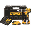 Dewalt DCD796D2BT 20V MAX XR Cordless Lithium-Ion 1/2 in. Brushless Compact 3-Speed Hammer Drill Kit with 2.0 Ah Bluetooth Battery