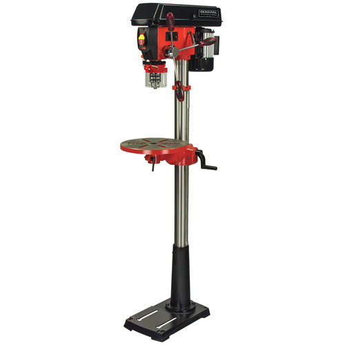 General International DP2003 13 in. 16-Speed Drill Press with Global Patented Cross Pattern Laser and LED Light