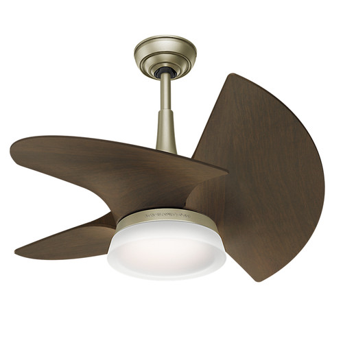 Casablanca 59138 Orchid Pewter Revival 30 in. Walnut Indoor Ceiling Fan with Light and Wall Control image number 0