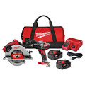 Milwaukee 2992-22 M18 Lithium-Ion Brushless Cordless 1/2 in. Hammer Drill Driver / 7-1/4 in. Circular Saw Combo Kit (5 Ah) image number 0