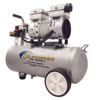 California Air Tools 6010LFC Ultra Quiet 1 HP 6 Gallon Oil-Free Wheelbarrow Air Compressor