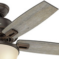Hunter 52225 44 in. Donegan Onyx Bengal Ceiling Fan with Light image number 2