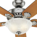 Hunter 53249 52 in. Pro's Best Five Minute Fan Brushed Nickel Ceiling Fan with Light image number 6
