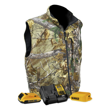 Dewalt DCHV085BD1-M Realtree Xtra Heated Fleece Vest Kit - Medium, Camo
