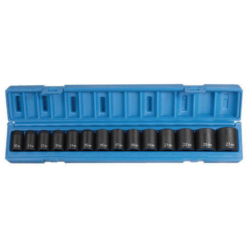 Grey Pneumatic 1412M 14-Piece 1/2 in. Drive 6-Point Metric Standard Socket Set image number 0