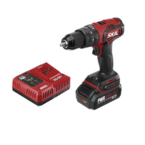 Skil HD529402 PWRCore 20 20V Brushless Lithium-Ion 1/2 in. Cordless Hammer Drill Kit (2 Ah) image number 0
