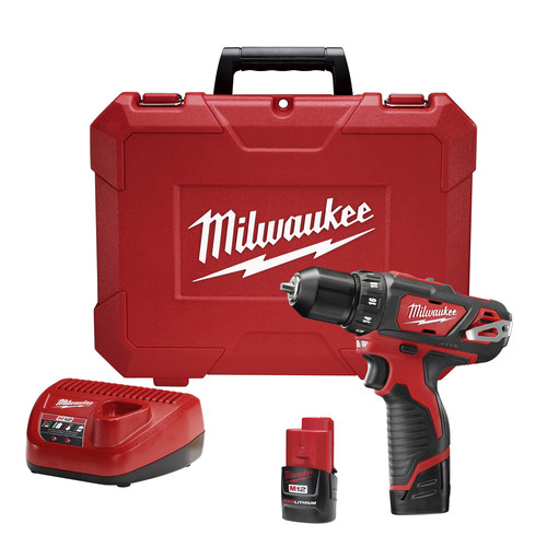 Factory Reconditioned Milwaukee 2407-82 M12 12V Cordless Lithium-Ion 3/8 in. Drill/Driver Kit