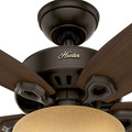 Hunter 52218 42 in. Builder Small Room New Bronze Ceiling Fan with Light image number 3