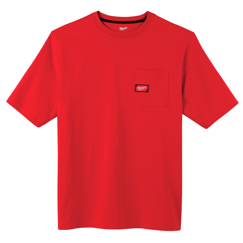 Milwaukee 601R-2X Heavy Duty Short Sleeve Pocket Tee Shirt - Red, 2X image number 0
