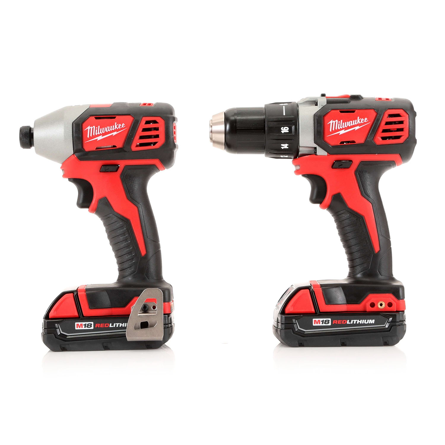 Milwaukee 2691-22 M18 18V Lithium-Ion 1-2 in. Drill Driver and 1-4 in.  Impact Driver High Performance Combo Kit